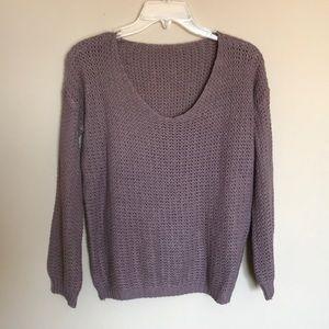 Sweaters - (S) Oversized knit sweater mauve